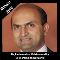 Post Budget Expectations From Padmanabha Krishnamurthy CFO, Paladion Networks