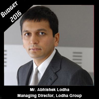 Post Budget Expectations From Mr. Abhishek Lodha, Managing Director, Lodha Group