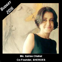 Post Budget Expectations From Ms. Sairee Chahal, Co-Founder, SHEROES.in