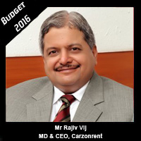 Post Budget Expectations From Mr Rajiv Vij, MD & CEO, Carzonrent