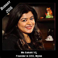 Post Budget Expectations From Ms Sakshi Vij, Founder & CEO, Myles
