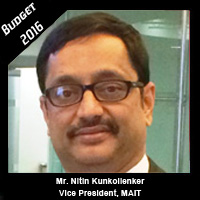 Post Budget Expectations From Mr Nitin Kunkolienker, Vice President, MAIT