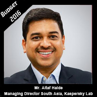 Post Budget Expectations From Mr. Altaf Halde, Managing Director, South Asia, Kaspersky Lab