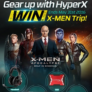 HyperX Announces X-Men Trip Lucky Draw Contest for Indian Customers